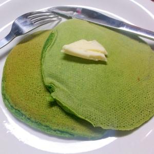 ほうれん草のパンケーキ☆