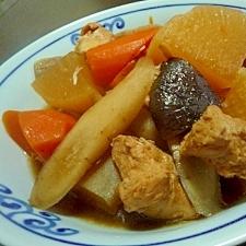 塩麹の鶏ムネ肉で★筑前煮