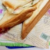 簡単!ハムとチーズのホットサンドwith海苔♪