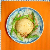 新玉ねぎとピーナツ豆腐のピリ辛サラダ♪