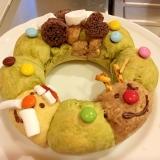 クリスマスに☆ホットケーキミックスdeリースパン