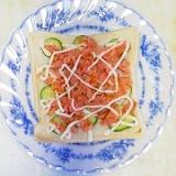 鮭と胡瓜のパン