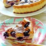 冷凍ブルーベリーを使ったベイクドチーズケーキ