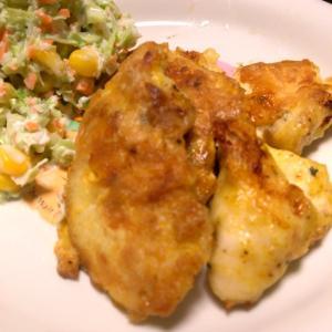 鶏ムネ肉のカレーピカタ