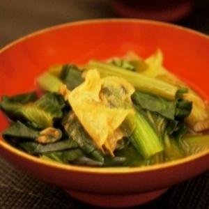 小松菜と湯葉の煮びたし