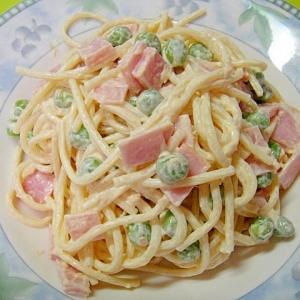グリンピースとツナのスパゲティサラダ