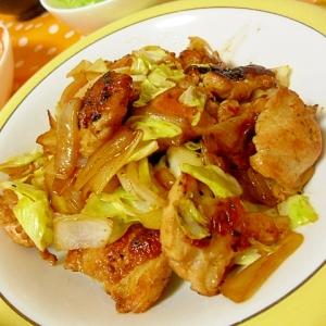 鶏肉とキャベツのフライパン炒め