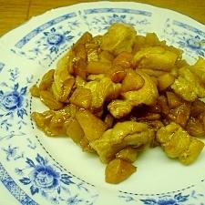柿と鶏肉の炒め物