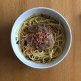 混ぜるだけ簡単♪納豆と干しエビのスパゲッティ