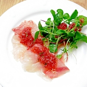 真鯛のお刺身サラダ♪
