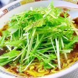 水菜と葱のピリ辛ラーメン