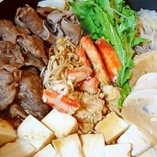 カニと牛肉のコラボ☆ 豪華「カニすき焼」