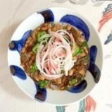 納豆に、オクラと風味かまぼこ