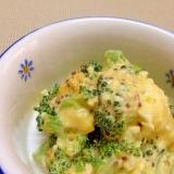 ブロッコリーと卵のアンチョビマヨ和え