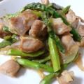 鶏もも肉・アスパラ・玉葱香味ペースト炒め