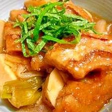 くるま麩と新たまねぎとお芋のこっくり煮