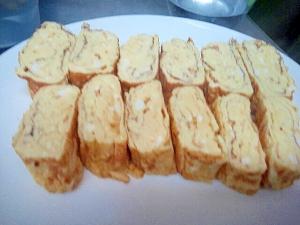 朝の定番めんつゆで簡単な甘めのだし巻き卵