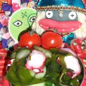 爽やか!キュウリとタコのヴィネガーサラダ