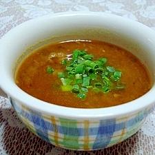 残ったカレーで♪簡単ぽかぽか生姜スープ