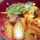 市販の天ぷらを使ったタレたっぷり天丼