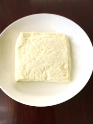 電子レンジで時短…豆腐の水切り