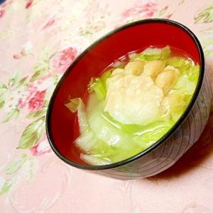 ウェイパーde❤白菜と蟹の生姜スープ❤
