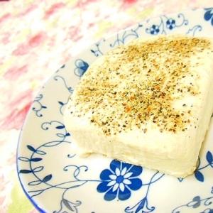 ❤粉チーズとステーキスパイスとにんにくの塩豆腐❤