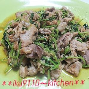 栄養満点♪豆苗・豚肉・ツナのオイスターソース炒め
