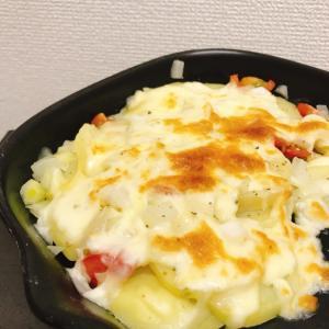 レンジとトースターでジャガイモチーズ