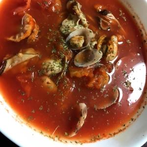 貝の美味しさいっぱい!!トマトスープ♪♪♪