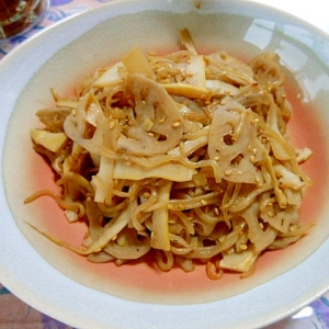 我が家の「レンコンのきんぴら」レシピ