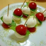 ☆ミニカプレーゼ☆かわいい一口サラダ♪オードブルに