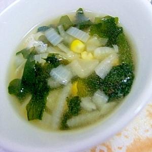 残り野菜のコンソメスープ