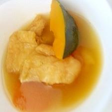 かぼちゃと油揚げの煮物