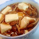 豆腐と山なめこの麺つゆ煮