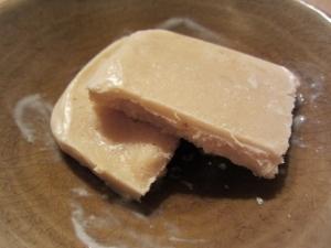 豆腐を使ったピーナツアイスクリーム