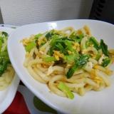 離乳食*取り分けメニュー*小松菜&卵入り焼きうどん