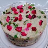 鯖の水煮とブロッコリースプラウトのポテトサラダ