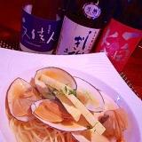おうちバル、白貝と筍のスープパスタ