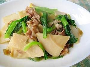 簡単に本格中華風 たけのこと豚肉の炒め物