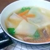 餃子の皮で簡単・ワンタンスープ