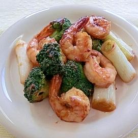 海老のピリ辛味噌炒め☆