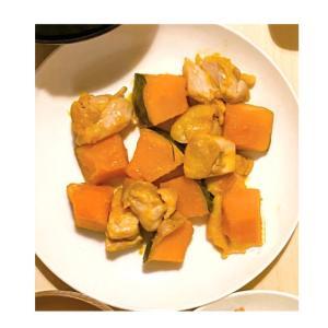 かぼちゃと鶏肉の味噌炒め★