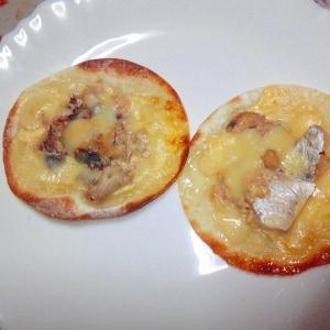 餃子の皮deさばチーズピザ