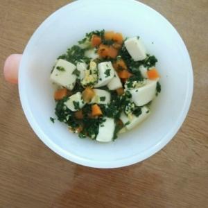 離乳食☆後期☆ 小松菜と豆腐の卵とじ