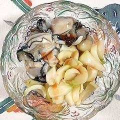 牡蠣とユリの根の和え物~♡