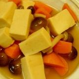 高野豆腐と人参、しめじの炊き合わせ レンジで簡単
