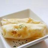 お弁当に楽ちん!餃子の皮でチーズ春巻き!