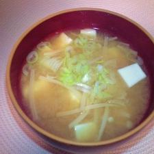 美味しい☆えのきと豆腐のお味噌汁