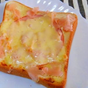 ガリハムチーズトースト♪